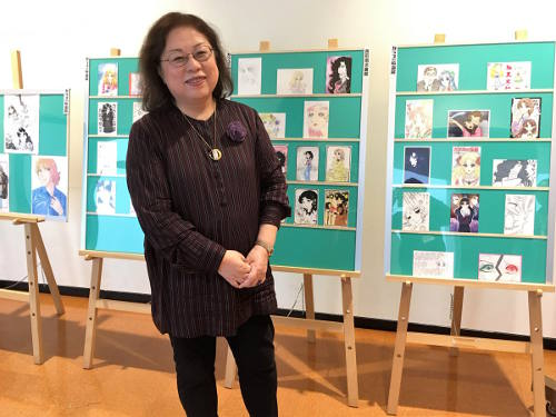 Suzue Miuchi at the Glass no Kamen exhibition at Sendai Literature Museum