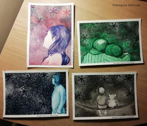 Snowflakes - Postcards set by Francesca Mancuso