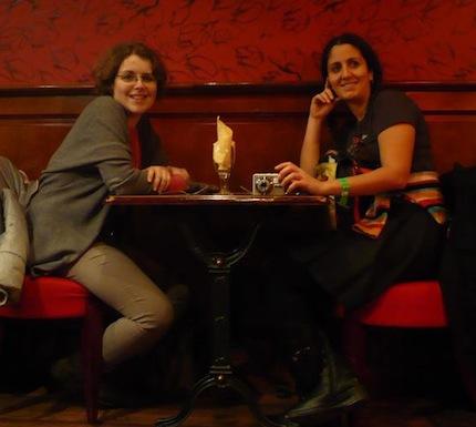 Francesca Mancuso and Cecilia at Latitude Pub, Angouleme 2012