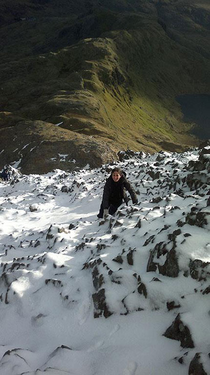Francesca in Snowdonia - February 2nd 2013