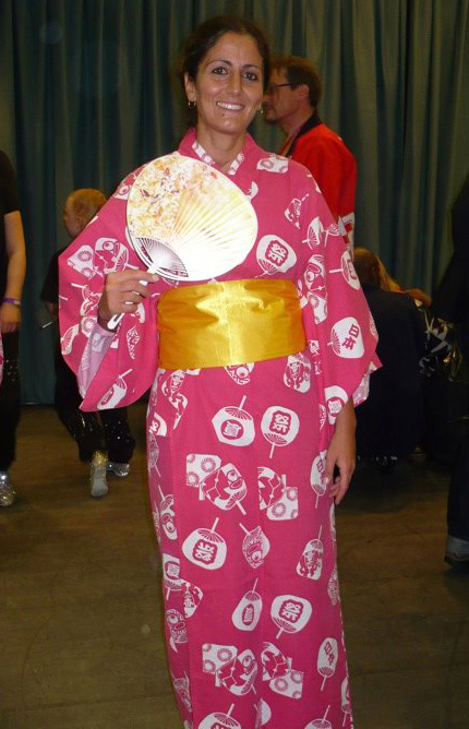 wearing yukata for the Akari Lantern Project