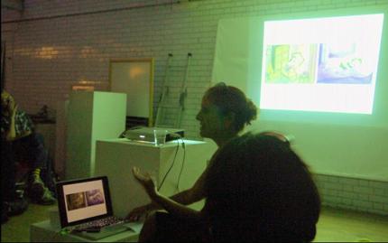 Francesca Mancuso's talk at Laydeez Do Comics