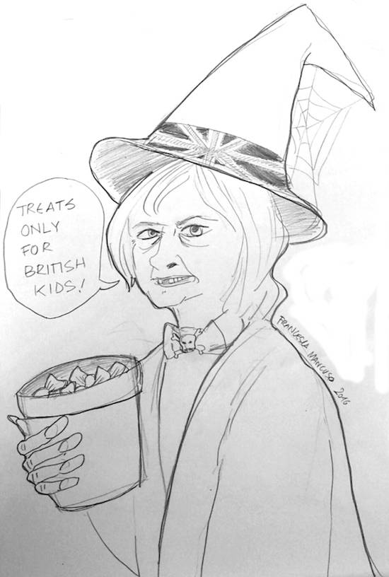 Halloween Theresa May