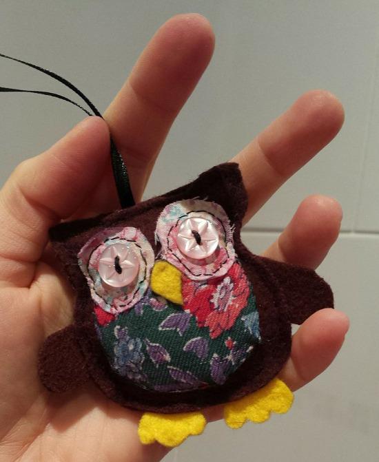 Francesca Mancuso - upcycled handsewn felt owl